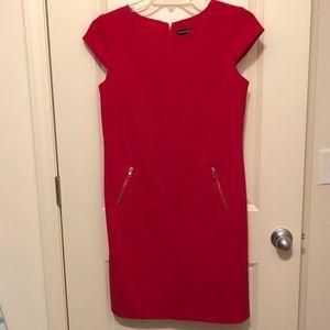 Madison Leigh zipper detail red dress